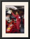 Michael Schumacher with Ferrari  British Grand Prix  Silverstone  Northamptonshire  1997