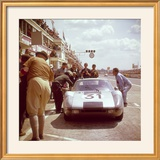 A Porsche 904/4 Gts in the Pits  Le Mans  France  1964