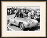 Stirling Moss with Porsche RSK  Goodwood  Sussex  1955