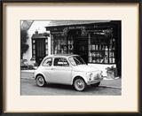 Fiat 500 Parked Outside a Quaint Shop  1969