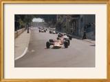 Graham Hill's Lotus Leading John Surtees' Honda  Monaco Grand Prix  1968