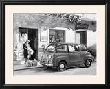 Fiat 600 Multipla Outside a Shop  (C1955-C1965)