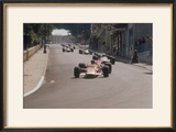 Graham Hill's Lotus Leading John Surtees' Honda  Monaco Grand Prix  1968