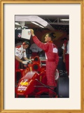 Michael Schumacher with Ferrari  British Grand Prix  Silverstone  Northamptonshire  1997