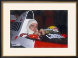 Ayrton Senna in His Mclaren-Honda  British Grand Prix  Silverstone  Northamptonshire  1989