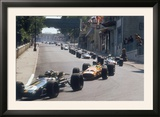Action from the Monaco Grand Prix  1968
