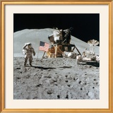Astronaut James Irwin (1930-199) Gives a Salute on the Moon  1971