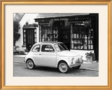 Fiat 500 Parked Outside a Quaint Shop  1969