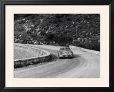 Porsche 356 Taking a Corner in the Monte Carlo Rally  1954