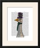 Goose in Purple Hat
