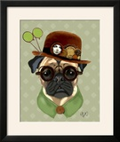 Pug with Steampunk Bowler Hat