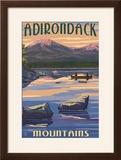 Adirondack Mountains  New York - Lake and Mountain View