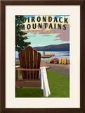 Adirondack Mountains  New York - Adirondack Chair and Lake