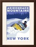 Adirondack Mountains  New York - Snowmobile Scene