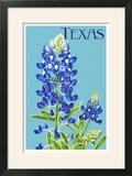 Texas - Bluebonnet - Letterpress