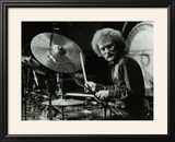 Drummer Ginger Baker Performing at the Forum Theatre  Hatfield  Hertfordshire  1980