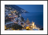 Twilight over Positano Along the Amalfi Coast  Campania  Italy