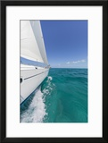Bahamas  Exuma Island Sailboat under Sail in Ocean