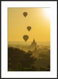 Myanmar Bagan Hot Air Balloons Rising over the Temples of Bagan