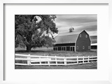USA  Washington Barn and Wooden Fence on Farm