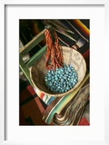 Basket Containing Round Turquoise Beads  Santa Fe  New Mexico  USA