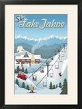 Lake Tahoe  California - Retro Ski Resort