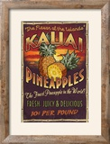 Kauai  Hawaii - PIneapple Vintage Sign
