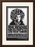 Jimi Hendrix Shrine Auditorium - Black and White - John Van Hamersveld Poster Artwork