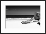 Awesome South Africa Collection B&W - Tranquil White Sand Beach