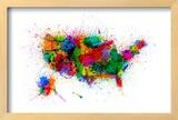 United States Paint Splashes Map