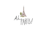 Ah Paris I on White