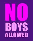 No Boys Allowed - Purple