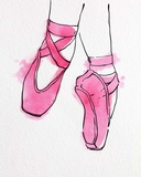 Ballet Shoes En Pointe Pink Watercolor Part II