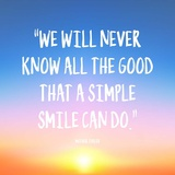 Simple Smile - Mother Teresa Quote (Dawn)