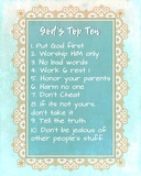 God's Top Ten Blue and Gold Design
