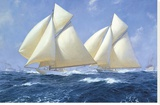 Columbia and Shamrock off Rhode Island  1899