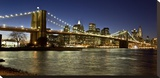 Panoramic view of Lower Manhattan at dusk  NYC