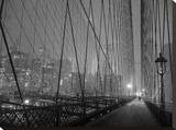 On Brooklyn Bridge by night  NYC