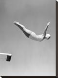 Woman Swan Dive Off Diving Board  1950
