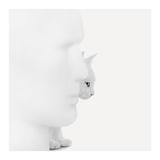 Mystique (Poster photographique, Noir et Blanc, Homme, Chat, Statue, Vue de profil) Reproduction d'art par Jon Bertelli