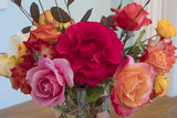 Roses In A Glass Vase 1