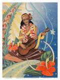 Hawaiian Musician - Curt Teich & Co