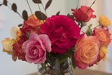 Roses In A Glass Vase 2