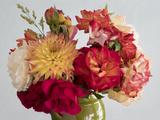 Roses And Dahlia Flower Arrangement