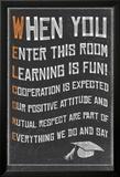 Welcome- New Classroom Motivational Poster Poster en laminé encadré