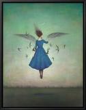 Swift Encounter Tableau sur toile encadré par Duy Huynh