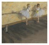 Danseuses s'entrainant à la barre Giclée par Edgar Degas