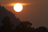 The Sun Setting Over The Bandhavgarh Tiger Reserve