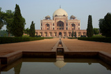 The Facade Of Humayun's Tomb Seen From The Char Bagh Garden