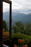 Singalila Ridge And Sikkim Landscape Seen From A Window